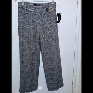 ZARA PLAID BLACK PANTS!!